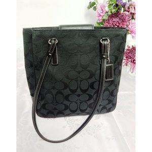COACH Small Signature Square Bucket Tote